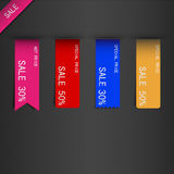 Set of price sale ribbon. Eps10 Stock Image