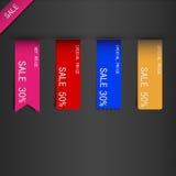 Set of price sale ribbon. Stock Image