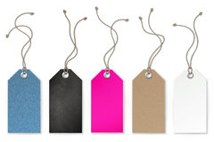 Set of price and sale tags for store Royalty Free Stock Photography