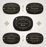 Set of price tag or brand label Royalty Free Stock Photography