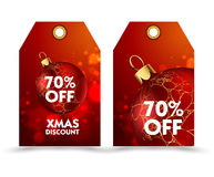Set of price tag with decoration ball or labels. special , holiday discount. Royalty Free Stock Photos