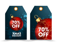Set of price tag with decoration ball or labels. special , holiday discount. Stock Images