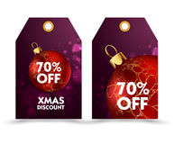 Set of price tag with decoration ball or labels. special , holiday discount. Stock Photography