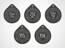 Set of price tag and discount label Royalty Free Stock Photography