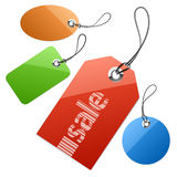 Set of price tags. Vector illustration of set of price tags Stock Photo