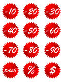 Set of price tags. Vector illustration Royalty Free Stock Photo