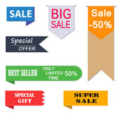 Set of Price-tags. Collection of Sale Discount Styled Stock Image