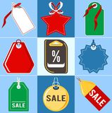 Set of price tags.Flat design. Set of price tags.Vector illustration in flat style Stock Photo