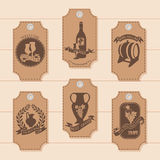 A set of price tags, tags for the decoration of wine. Vector. Illustration Royalty Free Stock Photography