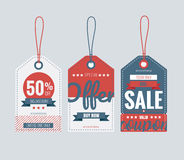 Set of price tags for 4th of July. Vector illustration Royalty Free Stock Photo
