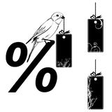 Set of the price tags. Vector illustrations set of the  price tags with bird Royalty Free Stock Image