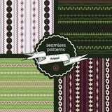 Set of Primal seamless patterns Stock Photography