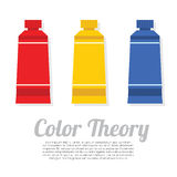 Set of Primary Color Tubes Stock Images