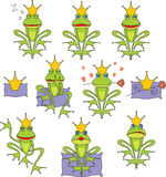 Set prince frog Royalty Free Stock Photo