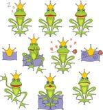 Set Prince Frog Royalty Free Stock Photo