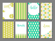 Set of printable journaling cards. With vintage patterns, hand lettering and space for your text. May be used for scrapbooking, posters, flyers, invitations Royalty Free Stock Photography