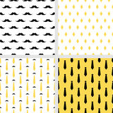 Set of printable vector seamless hipster patterns Stock Photography