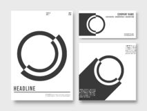 Set of printed products templates. Minimal geometric design background royalty free illustration