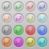Printing papers plastic sunk buttons Royalty Free Stock Photos