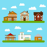 Set of private houses. Stock Photography