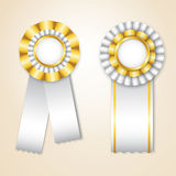 Set of  prize ribbons Stock Photo