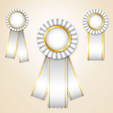 Set of  prize ribbons Stock Image