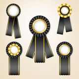 Set of  prize ribbons Royalty Free Stock Photo