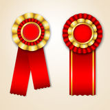 Set of prize ribbons Stock Images