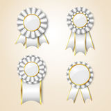 Set of  prize ribbons Royalty Free Stock Photography