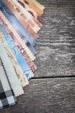 Set of probes fabrics Royalty Free Stock Image
