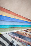 Set of probes fabrics Royalty Free Stock Photography
