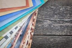 Set of probes fabrics. Set of probes furniture fabrics Stock Photo