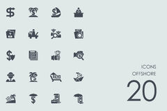 Set of produced overseas icons Royalty Free Stock Photos