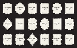 Set of product label templates. Different shapes Stock Photography