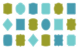 Set of product label templates. Different shapes Royalty Free Stock Photo