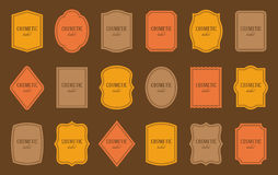 Set of product label templates. Different shapes Royalty Free Stock Photography