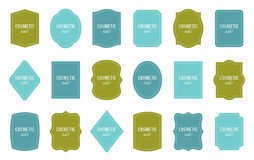 Set of product label templates. Different shapes Royalty Free Stock Images