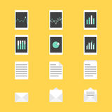 Set of productivity icons vector illustration Stock Photography