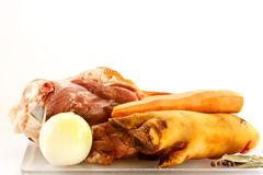 Set of products for beef aspic Royalty Free Stock Image