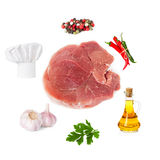 Set of products for cooking. Meat Stock Photography