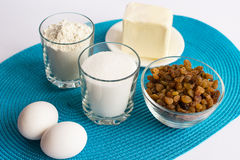 Set produkty dla kulinarnych muffins na pielusze Zdjęcie Royalty Free