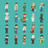 Set of profession characters Stock Images