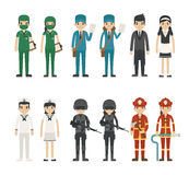 Set of profession characters Stock Photo