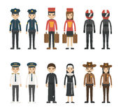 Set of profession characters Royalty Free Stock Image