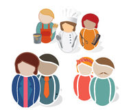 Set of Profession Web Icons Stock Photo