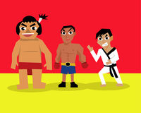 Set of professional career about martial art. A set of professional career about martial art vector illustration