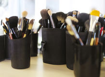 Set of professional cosmetic brushes Stock Image