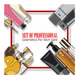 Set of professional cosmetics for skin care Stock Photography