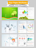 Set of professional and ecological brochures or flyers. Royalty Free Stock Photo