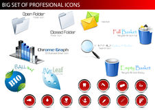 Set of professional icons. Royalty Free Stock Image